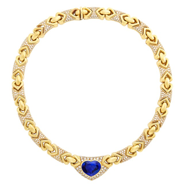 Gold, Sapphire and Diamond Necklace, Bulgari