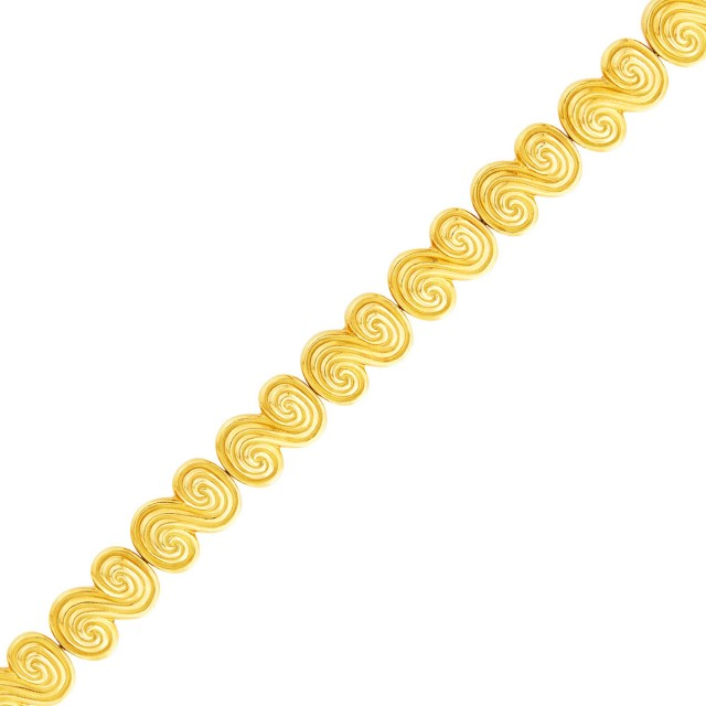 Tiffany and Co. Gold Scroll Link Bracelet