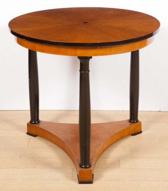 Biedermeier Style Birch and Part-Ebonized Occasional Table