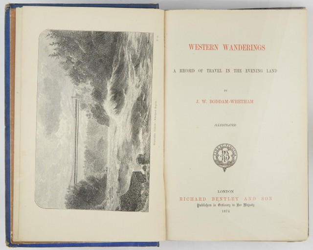 [CALIFORNIA]  BODDAM-WHETHAM, JOHN W. Western Wanderings: A Record of Travel in the Evening Land.