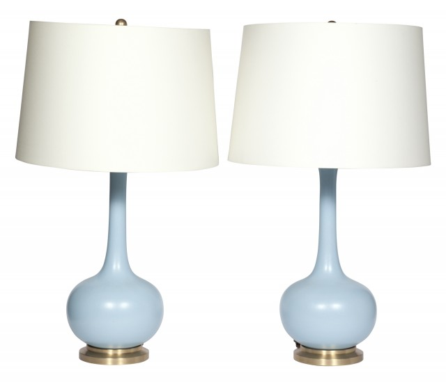 Pair of Christopher Spitzmiller Style Ceramic Lamps