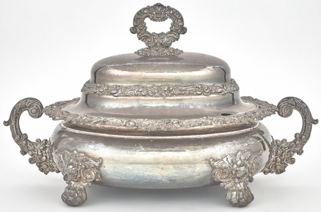 Regency Style Silver Plated Soup Tureen and Cover