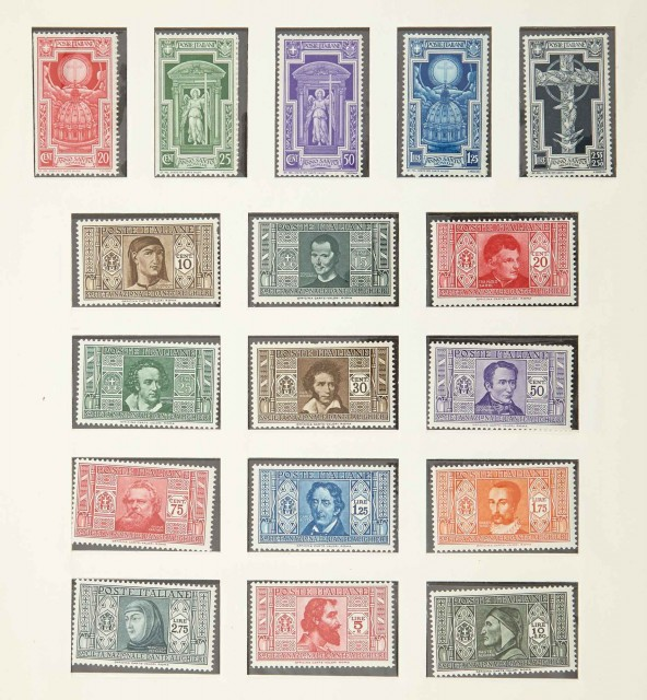 Italy and Vatican Postage Stamp Collections