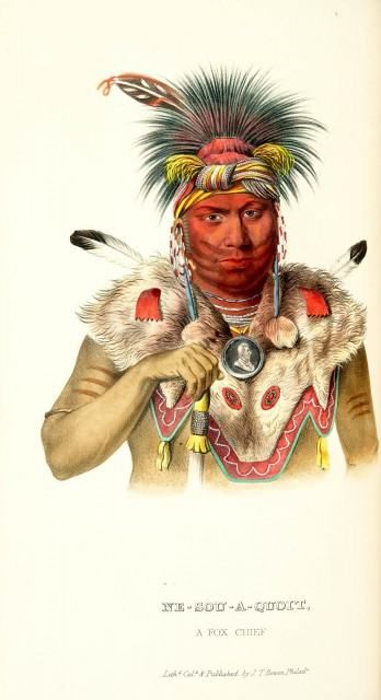 [COLOR PLATE]  MCKENNEY, THOMAS L. and HALL, JAMES. History of the Indian Tribes of North America...