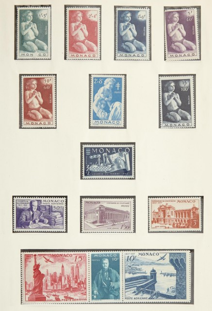 France, Monaco and Swiss Stamp Collections