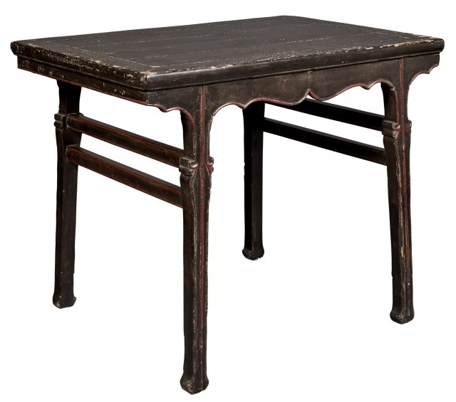 Chinese Black Lacquer Wine Table