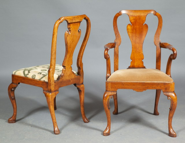 Set of Ten George II Style Dining Chairs