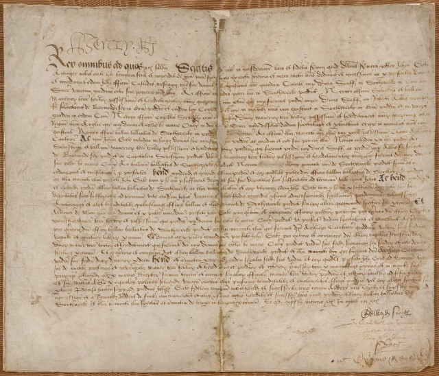 "HENRY VIII  Document signed [""Henry R""],"