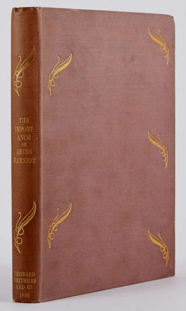 WILDE, OSCAR  The Importance of Being Earnest. A Trivial Comedy for Serious People