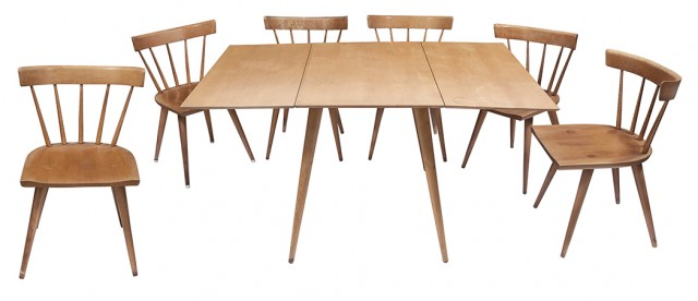 Paul Mccobb Planner Group Maple Dining Table And Six Dining