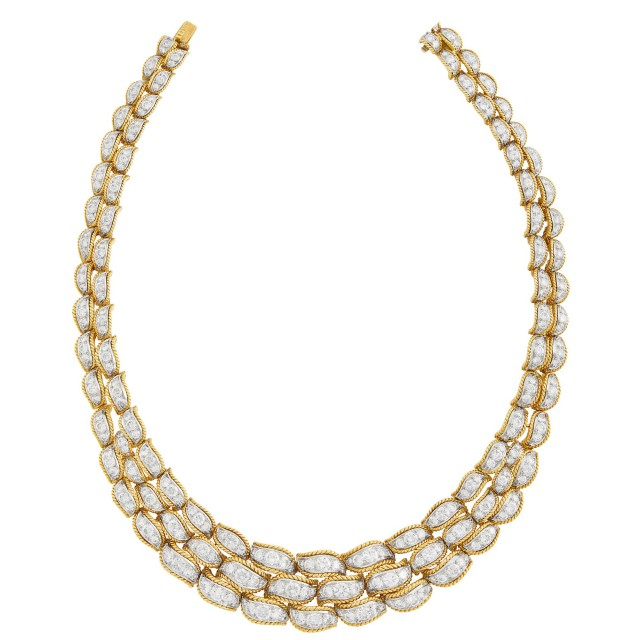 Gold, Platinum and Diamond Necklace, Van Cleef and Arpels, France