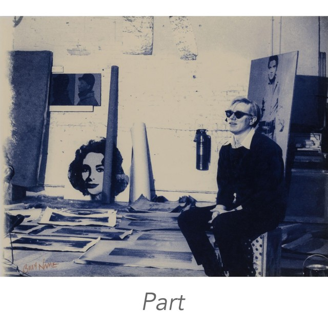 NAME, BILLY (1940-2016)  Group of four gelatin silver prints of Andy Warhol\'s Factory and its denizens.