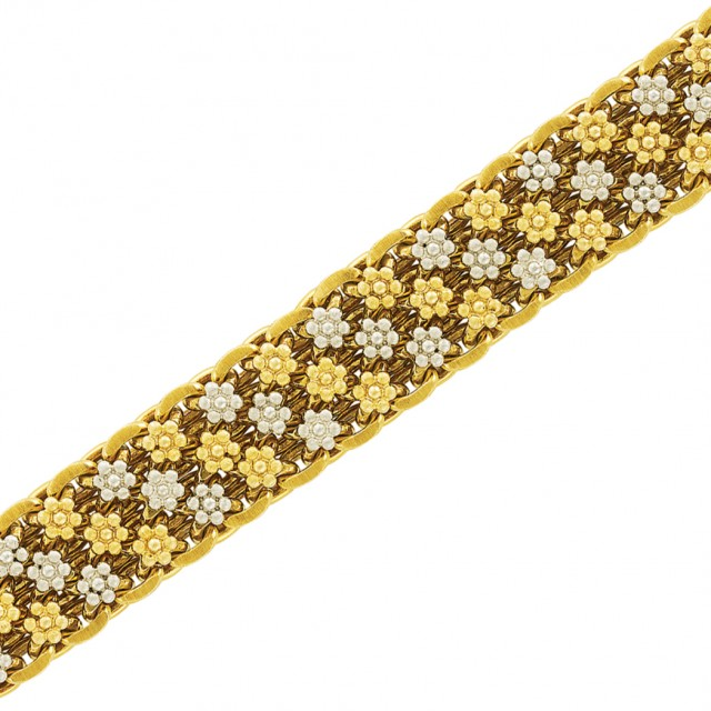 Two-Color Gold Floret Bracelet, Mario Buccellati