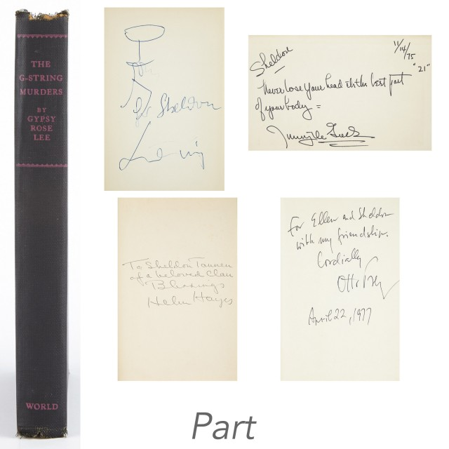 [SIGNED BOOKS]  Group of approximately eighty volumes signed or inscribed to Sheldon Tannen.