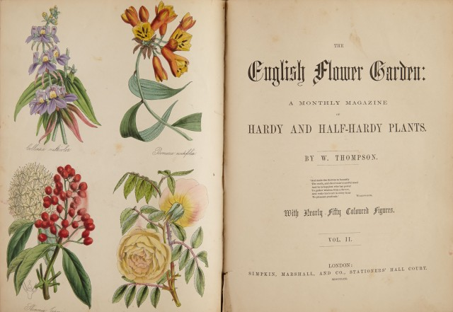 Thompson W The English Flower Garden A Monthly Magazine Of