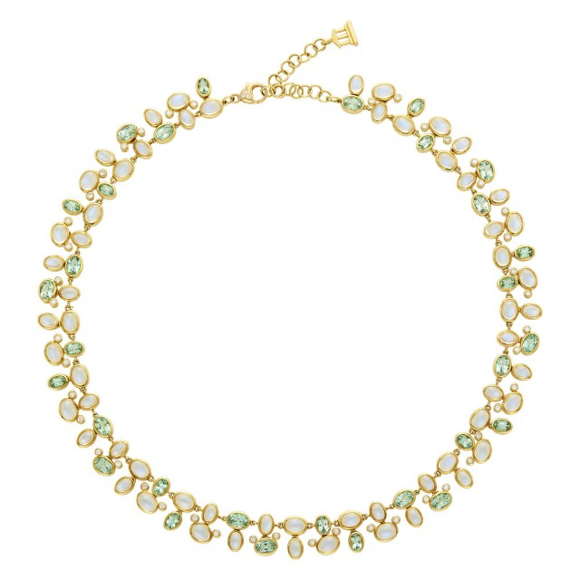 Temple St. Clair Gold, Moonstone, Tourmaline and Diamond Necklace