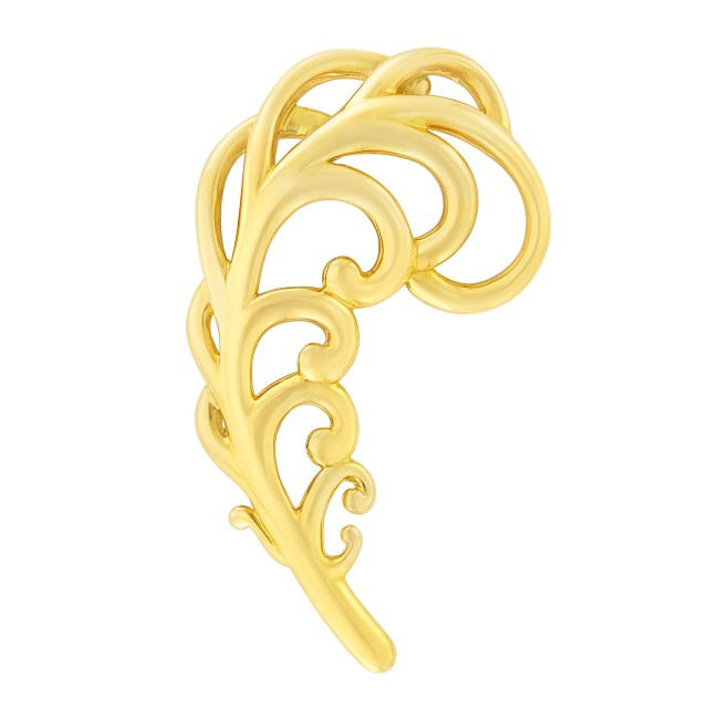 Gold Feather Clip-Brooch, Tiffany and Co., Paloma Picasso