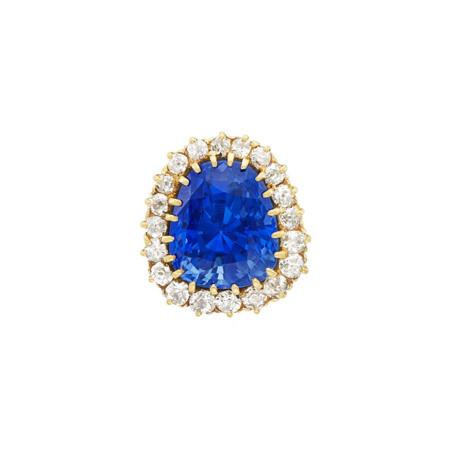 Gold, Sapphire and Diamond Ring