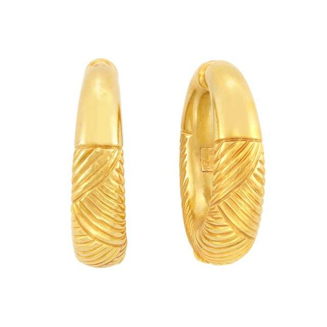 Pair of Gold Hoop Earrings, Ilias Lalaounis