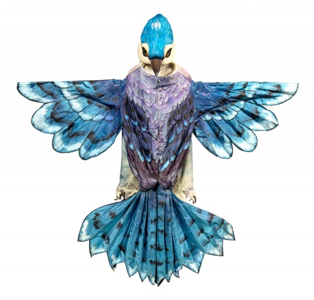 "Maurice Sendak  Cunning Little Vixen: Anthropomorphic Costume for ""Blue Jay"". Comprising: Head, Talons (Shoes) and Body costume."