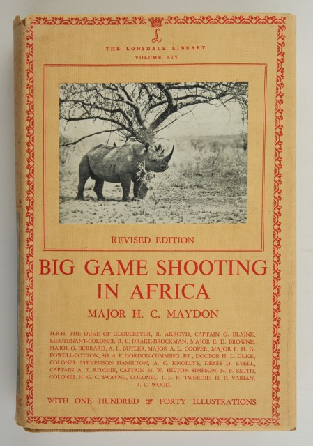 MAYDON, H. C., ed.  Big Game Shooting in Africa.