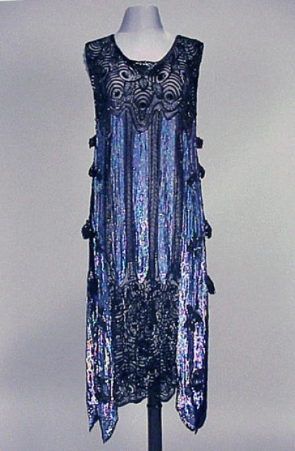 Iridescent Sequined Chemise Dress