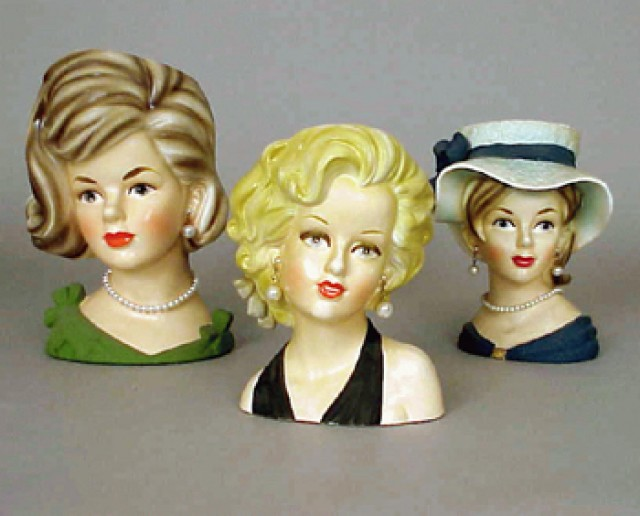 Marilyn Monroe And Other Lady Head Vases For Sale At Auction On Thu