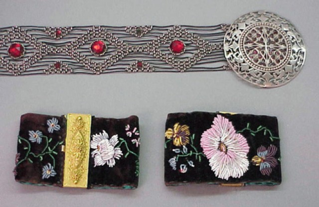 Two Fine Antique Beadwork Pieces