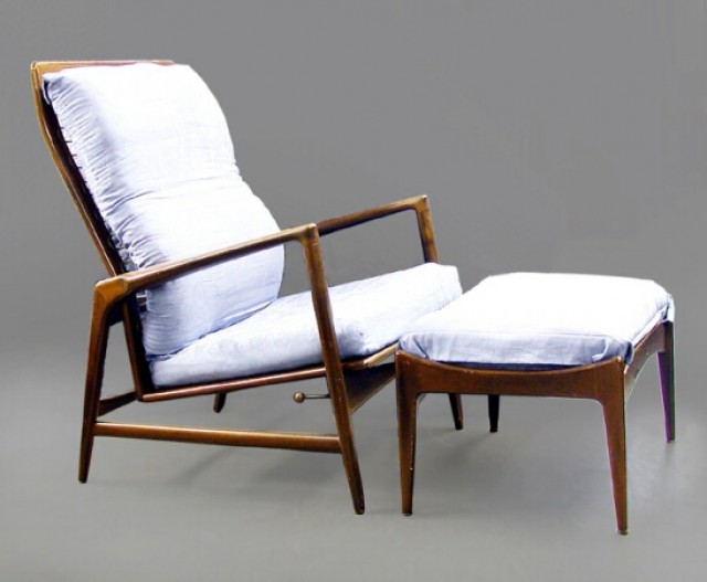 Peachy Danish Modern Teak Lounge Chair And Ottoman For Sale At Pabps2019 Chair Design Images Pabps2019Com