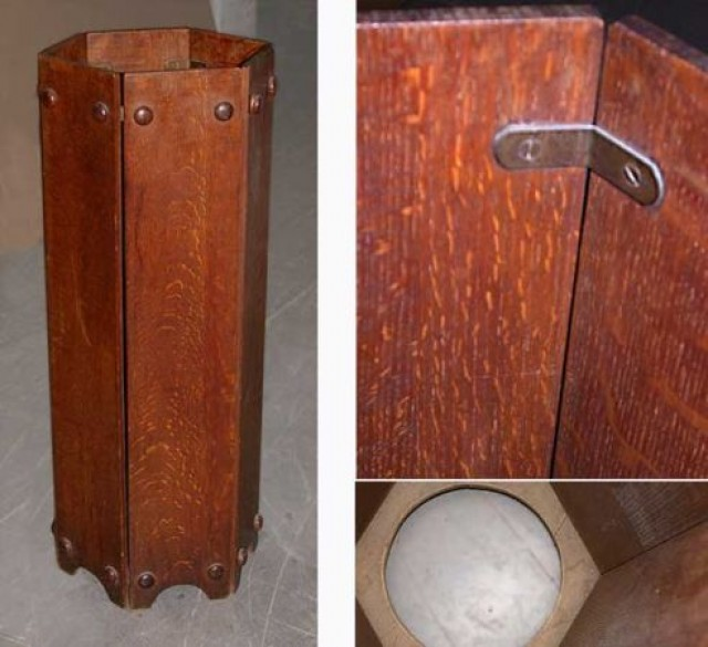 Mission Style Oak Umbrella Stand For