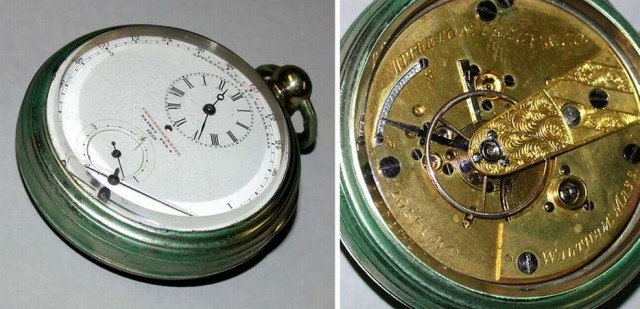 Rare Nickel Open Face Chronometer Watch