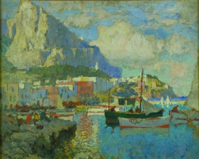 Konstantin Ivanovich Gorbatov Russian, 1876-1945 THE HARBOR AT CAPRI, ITALY