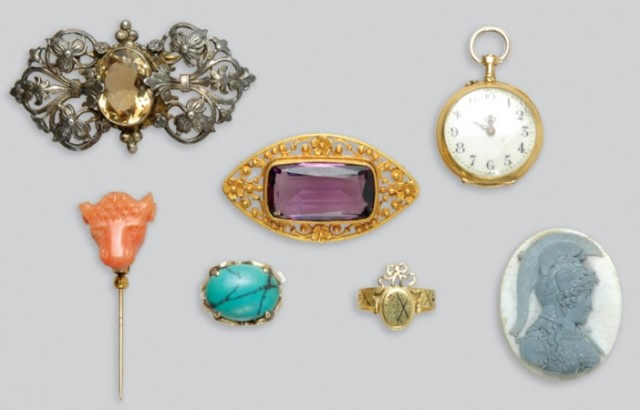 Group of Antique and Assorted Jewelry