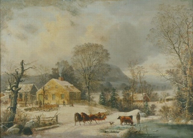 George Henry Durrie 1820-1863 Ketcham Farm in Winter, New Haven, 1858