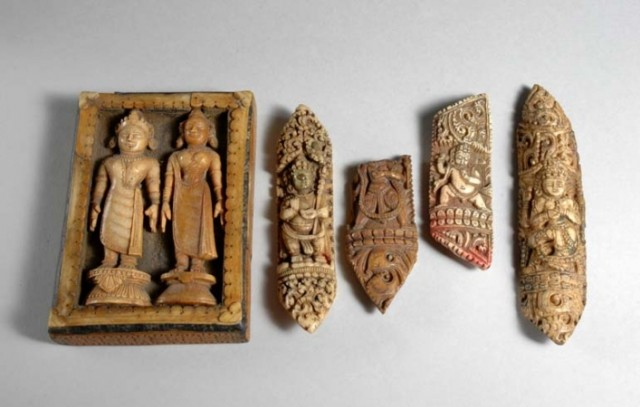 Five Indian Carved Bone Reliquaries For Sale At Auction On Tue 03 20 2007 07 00 Asian Works Of Art Doyle Auction House