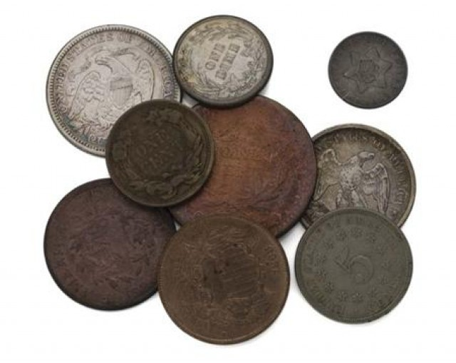 United States Type Coins, Half-Cent to Quarter-Dollars for