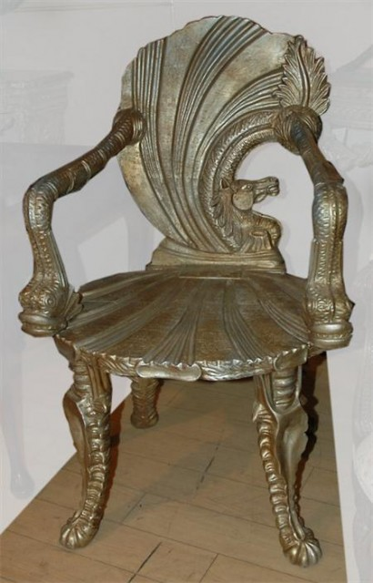 Shell Form Grotto Chair