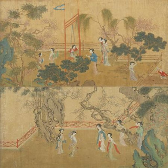 Four Chinese School Paintings 19th Century For Sale At