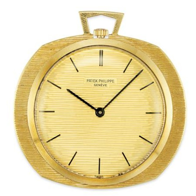 Gold Open Face Pocket Watch, Patek Philippe