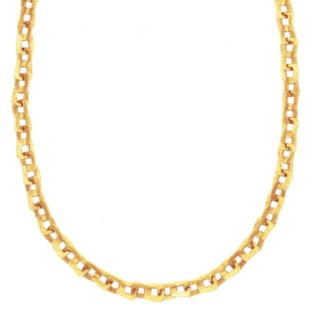 Gold Chain Necklace/Bracelet Combination, by Ed Weiner
