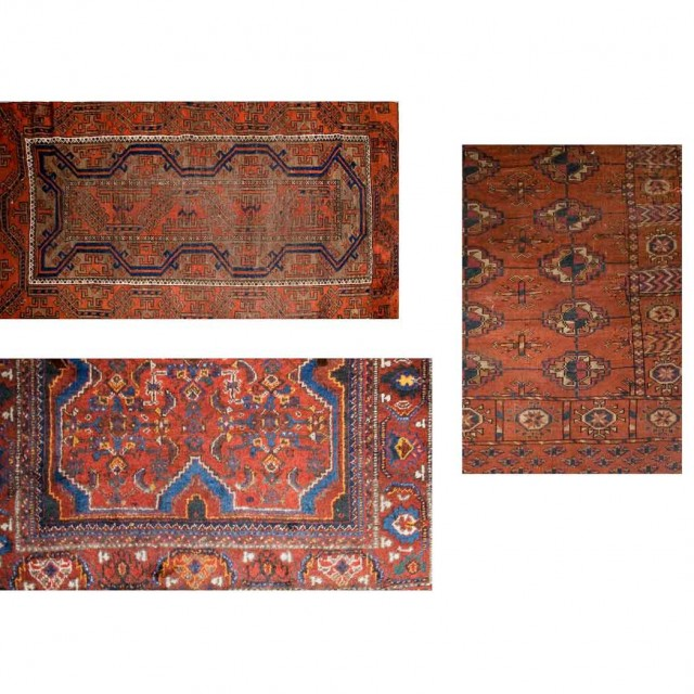 Group Of Three Tribal Rugs For Sale At Auction On Wed 10 13 2010