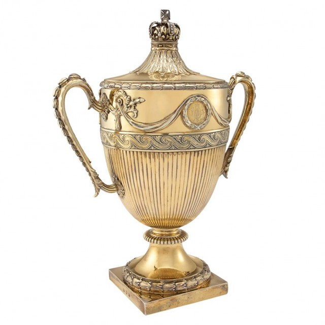 George III Silver Gilt Presentation Urn and Cover