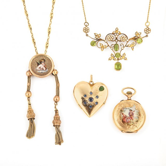 Group of Antique Jewelry and Assorted Jewelry