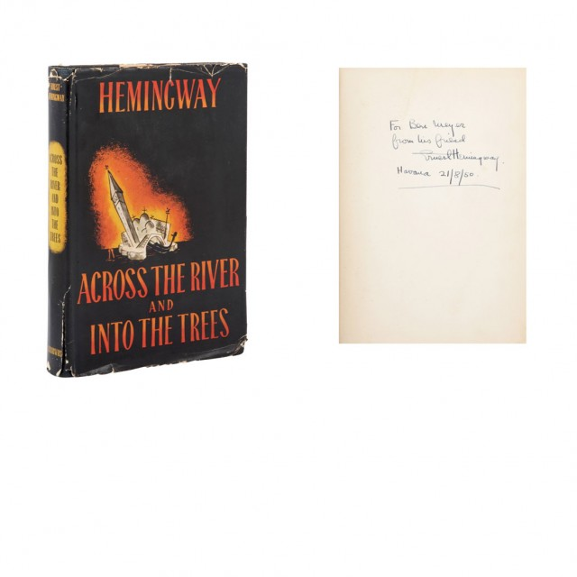 HEMINGWAY, ERNEST Across the River and Into the Trees.