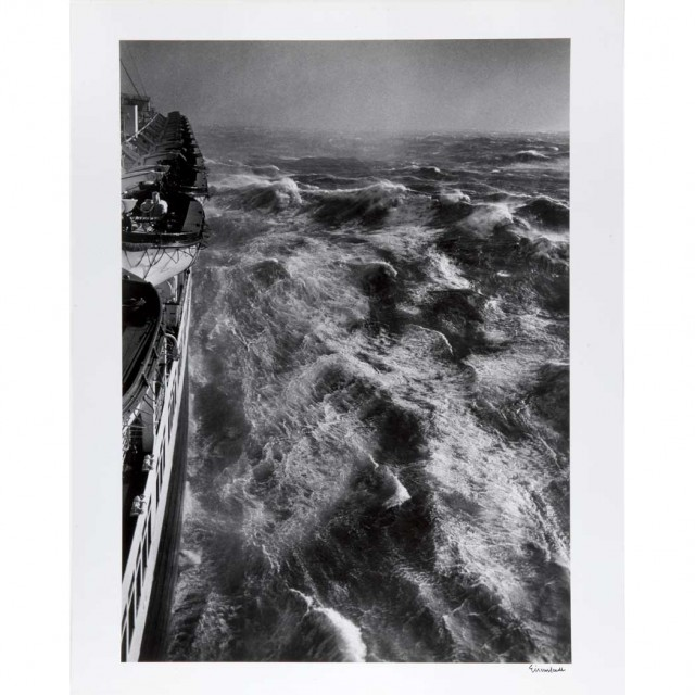EISENSTAEDT, ALFRED (1898-1995) Hurricane in the Atlantic as seen from the S.S. Queen Elizabeth January 1948,