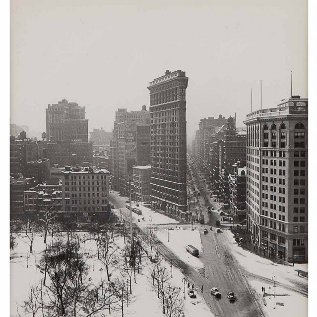 RUDY BURCKHARDT[Flatiron in Winter]