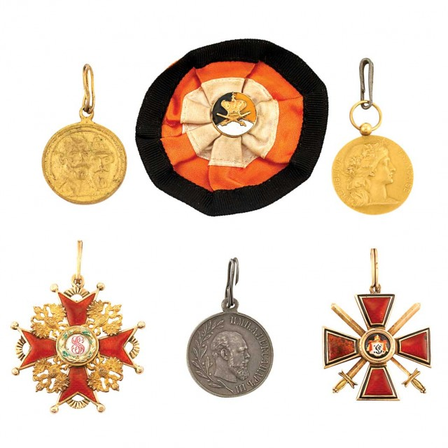 Group of Russian, English and French Medals and Badges