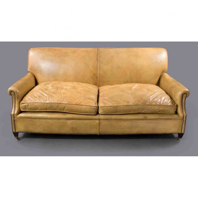 Magnificent George Smith Leather Sofa For Sale At Auction On Wed 06 22 Inzonedesignstudio Interior Chair Design Inzonedesignstudiocom