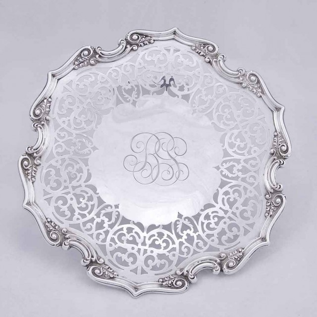 Group of Five Sterling Silver Trays