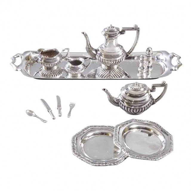 English Silver Miniature Tea Service